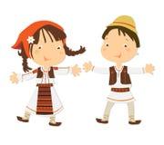 Crianças romenas ilustração royalty free