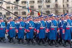 Crianças romenas em uma parada Fotos de Stock Royalty Free