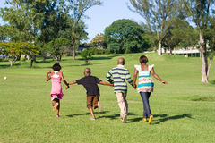 Crianças Running Imagem de Stock