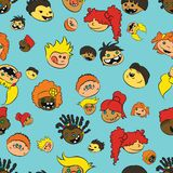 All the kids vector illustration