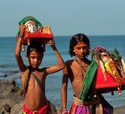 Crianças santamente Foto de Stock Royalty Free