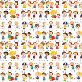 Crianças sem emenda Imagem de Stock