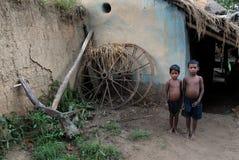 Crianças subnutridos em India Fotografia de Stock