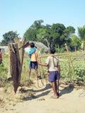 Crianças tribais indianas Fotografia de Stock