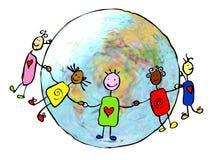 Crianças unidas Foto de Stock