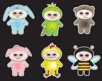 Crianças vestidas nos animais Imagem de Stock Royalty Free