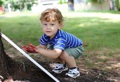 Criança Art Fingerpainting Fotos de Stock Royalty Free