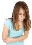 Criança com dor de estômago Imagens de Stock Royalty Free