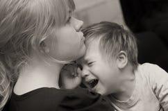 Criança da matriz e do grito Fotografia de Stock