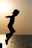 Criança da silhueta Fotos de Stock Royalty Free