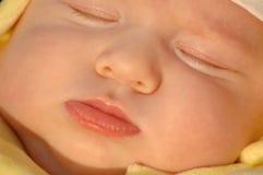 Criança de sono do retrato Fotografia de Stock