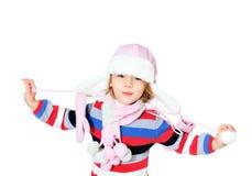Criança do inverno Foto de Stock Royalty Free
