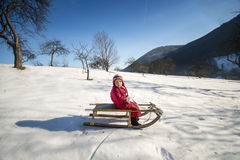 Criança do inverno Fotografia de Stock Royalty Free