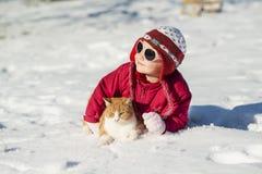 Criança do inverno Fotografia de Stock