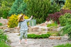 Criança na sua pesca da maneira Fotografia de Stock