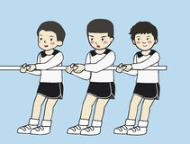 Criança no dia do esporte Imagens de Stock Royalty Free
