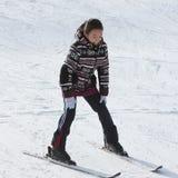 Criança no esqui Fotos de Stock