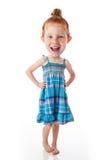 Criança principal grande engraçada Imagem de Stock Royalty Free