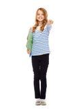Criança que guarda dobradores coloridos Fotos de Stock Royalty Free