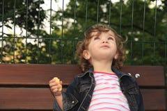 Criança sonhadora Imagens de Stock Royalty Free