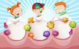 Crianças com dentes sujos Foto de Stock Royalty Free