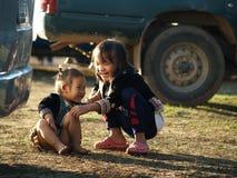 Crianças deficientes felizes Foto de Stock Royalty Free