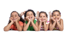 Crianças felizes Fotos de Stock Royalty Free