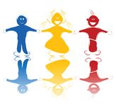 Crianças felizes nas cores Fotografia de Stock