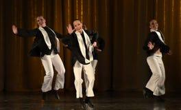 Crianças na dança judaica da fase Fotografia de Stock