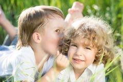 Crianças na mola Fotos de Stock