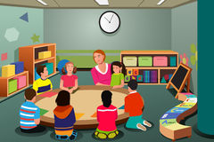 Crianças no pré-escolar Fotografia de Stock