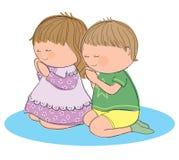 Crianças Praying Fotografia de Stock Royalty Free