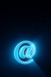 Criando e usando um email @ - símbolo A era do Internet co Fotografia de Stock Royalty Free