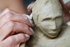 Criando a escultura Fotografia de Stock Royalty Free