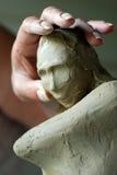 Criando a escultura foto de stock