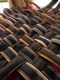 Criando a esteira com os pneumáticos usados pela bicicleta imagens de stock royalty free