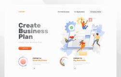 Criando o página da web do plano de negócios ilustração royalty free