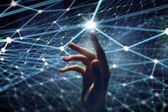 Criando tecnologias para a conexão Meios mistos fotografia de stock royalty free