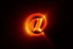 Criando um email & um x28; @ - symbol& x29; rendição da ilustração 3D Fotografia de Stock Royalty Free