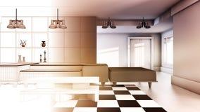 Criação de uma casa Fotografia de Stock Royalty Free
