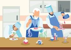 Criar a culinária Nano torna côncava a ilustração lisa ilustração stock