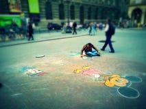 Criatividade rebelde e de fantasi arkivbild