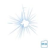 Criativo decorativo da placa de janela quebrada ou do fundo de vidro dianteiro Imagem de Stock Royalty Free