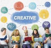Criativo pense o conceito grande do gráfico da sessão de reflexão Foto de Stock