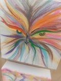Criatura borrosa del arco iris imagen de archivo libre de regalías
