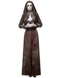 Criatura de Dia das Bruxas - freira ensanguentado Fotos de Stock Royalty Free
