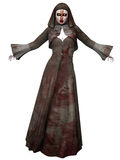 Criatura de Halloween - monja sangrienta Fotografía de archivo