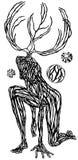 Criatura de la fantasía stock de ilustración