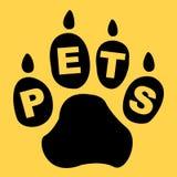 Criatura de Paw Shows Domestic Animal And de los animales domésticos Foto de archivo