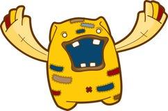 Criatura divertida de la historieta - garabato emocional del monstruo Imagen de archivo libre de regalías
